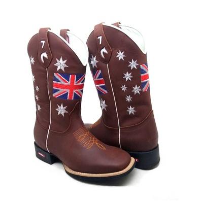 Bota Texana Masculina Bico Quadrado Inglaterra Cou... - JMCOUNTRY