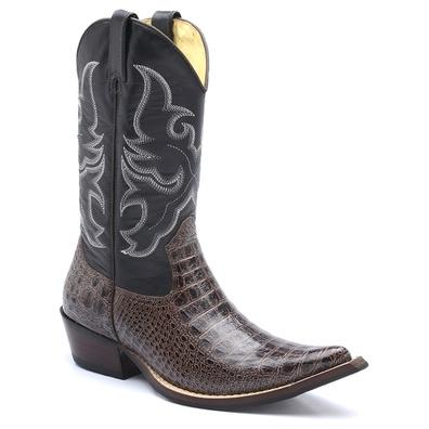 Bota Country Masculina Bico Fino Texana Cano Longo... - JMCOUNTRY