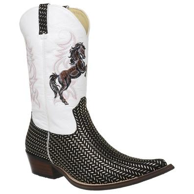 Bota Country Masculina Bico Fino Texana Platinado ... - JMCOUNTRY