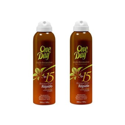 Loção Bronzeadora FPS15 Aerosol One Day - 200ml