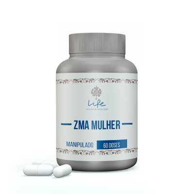 Zma Mulher (zinco 20mg, Magnesio 300mg, Vit B6 10,5mg) - 60 Doses