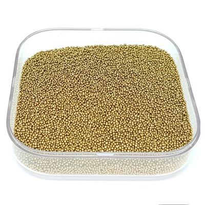 Caviar De Vidro Cor Ouro Velho.