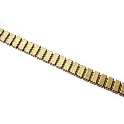 Corrente Flat 10x4mm - Banho Ouro Velho.