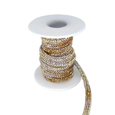 Cordão Infinity Aquarela - Lct/ Cristal, Base Silicone.