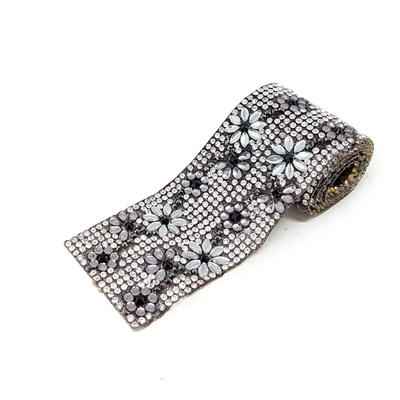 Tira De Strass Black Diamond- Garden, 40x3,8cm.