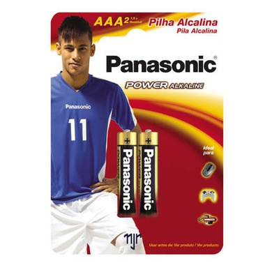 Pilha Palito Aaa Alcalina Power Lr03 Ct/2 Panasonic