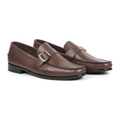 Sapato Casual em Couro Conhaque - Palermo - CLUBE DO HOMEM Calçados e Acessórios Masculino