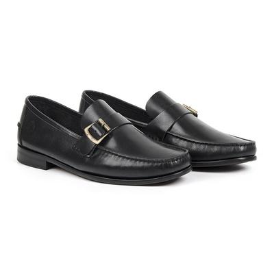 Sapato Casual em Couro Preto - Palermo - CLUBE DO HOMEM Calçados e Acessórios Masculino
