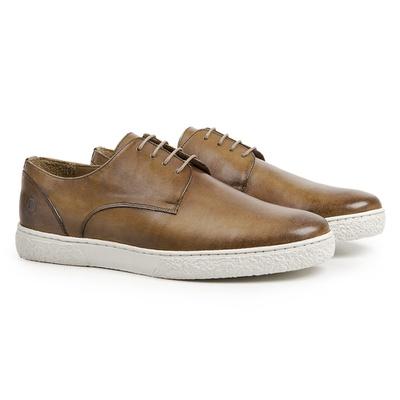 Sapato Casual em Couro Mostarda - Nice - CLUBE DO HOMEM Calçados e Acessórios Masculino