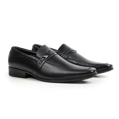 Sapato Social em Couro Preto - Lapa - CLUBE DO HOMEM Calçados e Acessórios Masculino