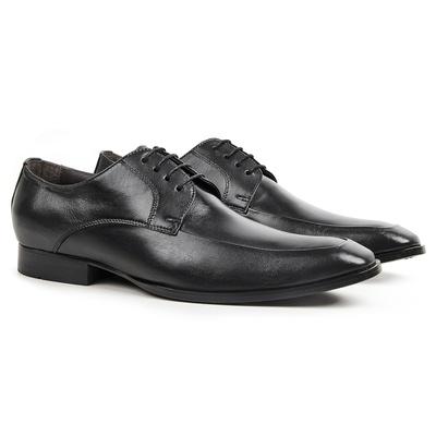 Sapato Social em Couro Preto - Fiore - CLUBE DO HOMEM Calçados e Acessórios Masculino