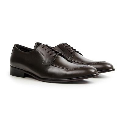 Sapato Social em Couro Café - Duomo - CLUBE DO HOMEM Calçados e Acessórios Masculino