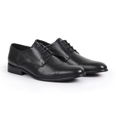 Sapato Social em Couro Preto - Positano - CLUBE DO HOMEM Calçados e Acessórios Masculino