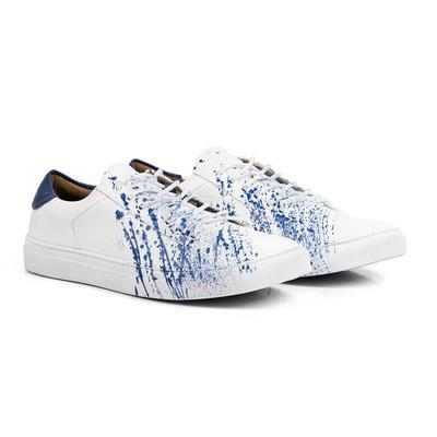 Tênis Branco / Azul - Tahoe Colors - CLUBE DO HOMEM Calçados e Acessórios Masculino