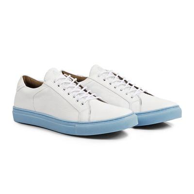 Tênis Branco - Tahoe Azul - CLUBE DO HOMEM Calçados e Acessórios Masculino