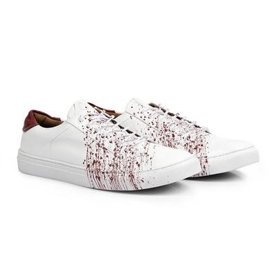 Tênis Branco / Vermelho - Tahoe Colors - CLUBE DO HOMEM Calçados e Acessórios Masculino