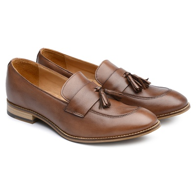 Sapato Feminino Loafer Amêndoa Ax02 - JACOMETTI