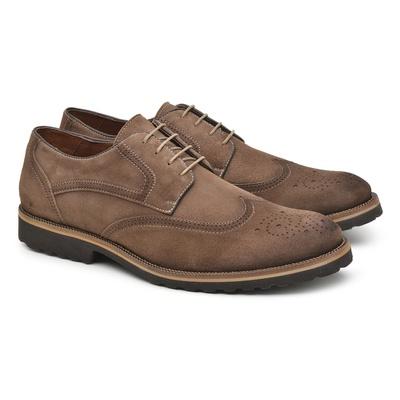Sapato Casual Masculino Derby Tabaco Bro002 - JACOMETTI