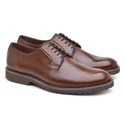 Sapato Casual Masculino Derby Chocolate Bro004 - JACOMETTI