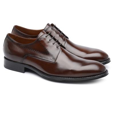 Derby Plain Toe Chocolate G05 - JACOMETTI
