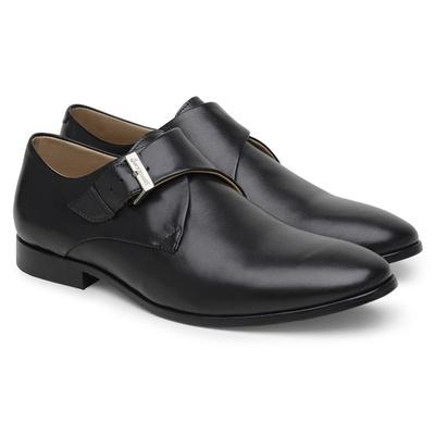 Sapato Social Masculino de Couro Preto com Fivela ... - JACOMETTI