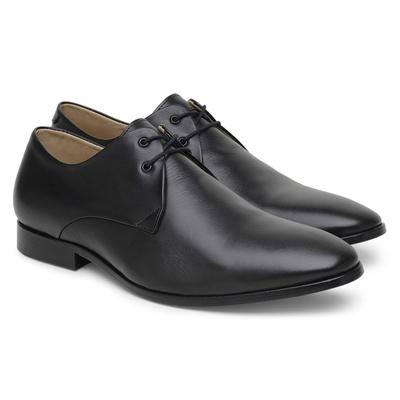 Sapato Social Masculino de Couro Preto de Amarrar ... - JACOMETTI