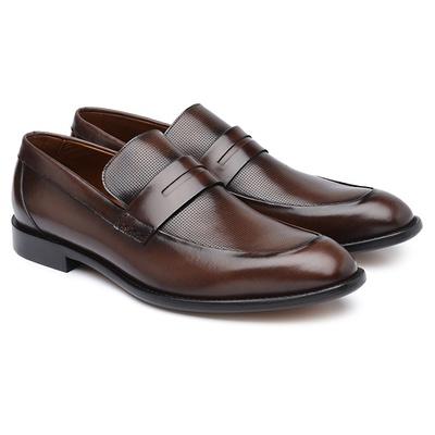Sapato Social Masculino em Couro Calf Diamante Mou... - JACOMETTI