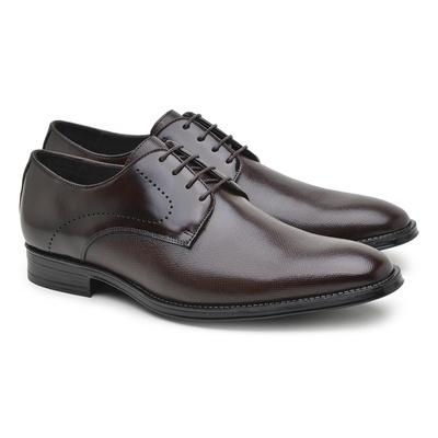 Sapato Social Masculino Derby Café Npl010 - JACOMETTI