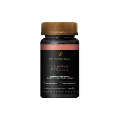 L-Carnitina com Cafeína - 60 Cápsulas - Life Nutraceuticals