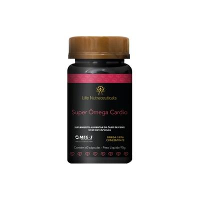 Super Ômega Cardio 1000mg EPA + 400mg DHA - 60 Cápsulas - Life Nutraceuticals