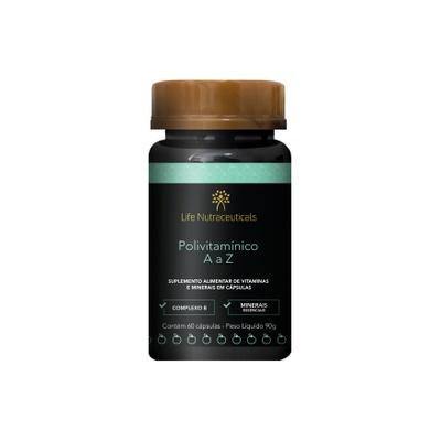 Polivitamínico A a Z 60 cápsulas – Life Nutraceuticals