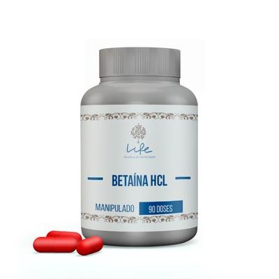Betaína HCL 300mg - 90 Doses