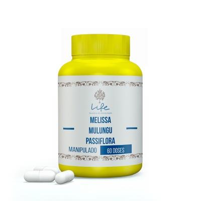 Melissa 250mg + Mulungu 100mg + Passiflora (Maracujá) 100mg - 60 Doses
