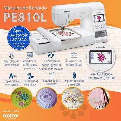 Máquina de Bordar Brother PE810L + BRINDES ESPECIAIS (ESCOLHA DO CLIENTE)