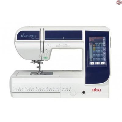 Máquina de Costura e Bordado Elna eXpressive 860 + BRINDES ESPECIAIS (ESCOLHA DO CLIENTE)