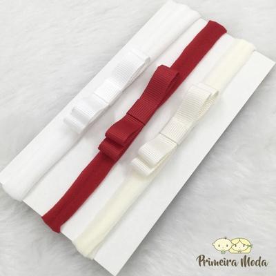 Kit Faixa para bebê Triplo Chanel - 1305 - Primeira Moda
