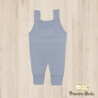 Jardineira Bento Azul - 1156 - Primeira Moda