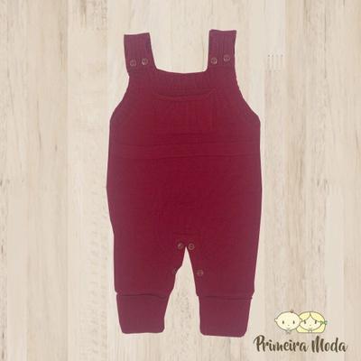 Jardineira Bento Vermelho - 1159 - Primeira Moda