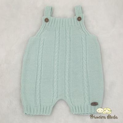 Jardineira Trançada Verde Bebê - 1215 - Primeira Moda