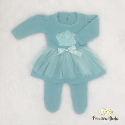 Vestido de Tricot Princesa Verde - 1234 - Primeira Moda
