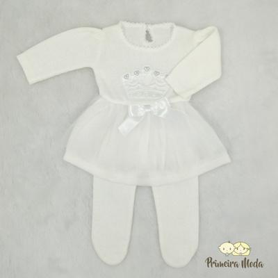 Vestido de Tricot Princesa Off - 1236 - Primeira Moda