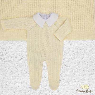 Saída De Maternidade Thomas Amarelo - 1024 - Primeira Moda