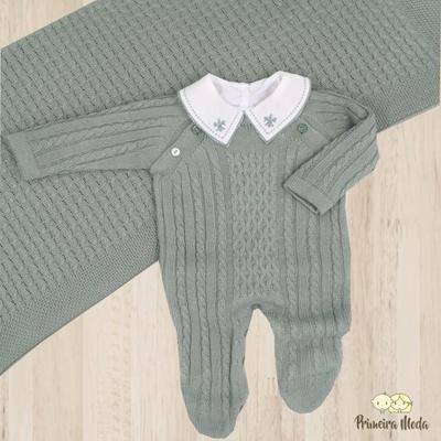 Saída De Maternidade Thomas Verde Maré - 1026 - Primeira Moda