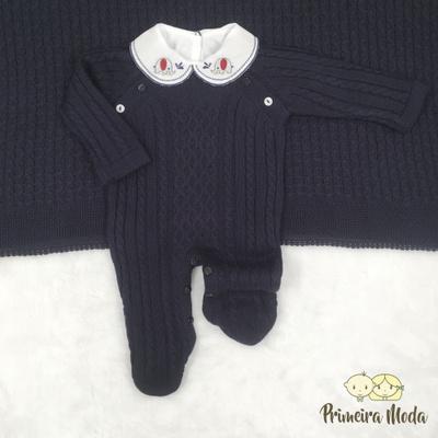 Saída De Maternidade Thomas Azul Marinho - 1027 - Primeira Moda