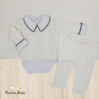 Saída De Maternidade Octavio Off - 1040 - Primeira Moda