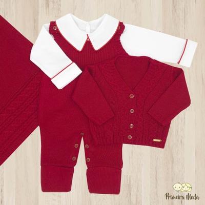 Saída De Maternidade Davi Vermelho - 1079 - Primeira Moda