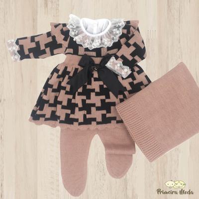Saída de Maternidade Júlia Rosa - 1084 - Primeira Moda