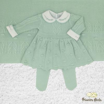 Saída De Maternidade Antonela Verde - 1086 - Primeira Moda