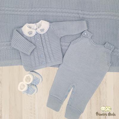 Saída De Maternidade Miguel Azul Bebê - 1076 - Primeira Moda