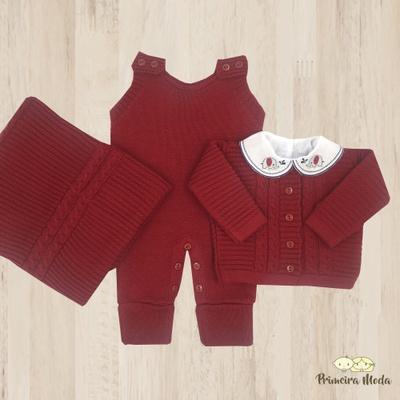 Saída De Maternidade Miguel Vermelho - 1090 - Primeira Moda